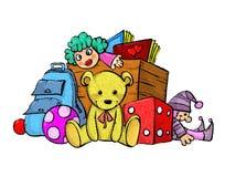 Hög av leksaker Arkivfoton