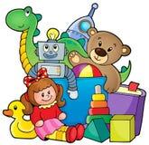 Hög av leksaker Fotografering för Bildbyråer