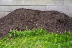 Hög av lera från kompost Royaltyfri Bild