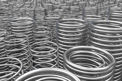 Hög av metallvårar och spolar Fotografering för Bildbyråer
