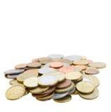 Hög av mynt royaltyfri bild