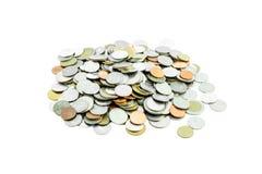 Hög av mynt Arkivfoto