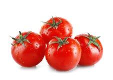 Hög av nya mogna tomater som isoleras på vit Royaltyfri Foto