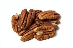 Hög av pecannötter Arkivfoto