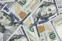 Hög av $100 räkningar USA Fotografering för Bildbyråer