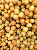 Hög av rambaien i fruktmarknad Royaltyfri Bild