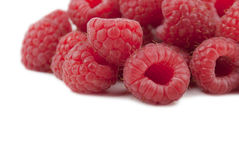 Hög av raspberrys Fotografering för Bildbyråer