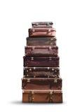 Hög av resväskor royaltyfri foto