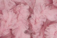 Hög av rosa tyg Royaltyfri Fotografi