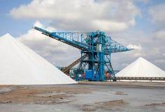 Hög av salt Fotografering för Bildbyråer