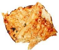 Hög av Scraped av pizzaskorpan för glutenallergier eller låg Carb Arkivbilder