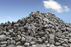 Hög av stenar Fotografering för Bildbyråer