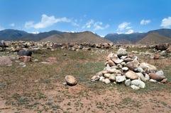 Hög av stenar Arkivfoto