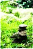 Hög av stenar på vaten Phou royaltyfria foton