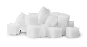 Hög av Sugar Cubes Rotated Royaltyfri Foto