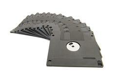 Hög av svarta disketter Royaltyfria Bilder
