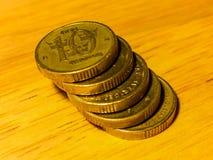 Hög av svenska kronor för mynt Royaltyfria Foton