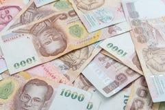 Hög av Thailand 1000 bahtsedlar Royaltyfri Fotografi
