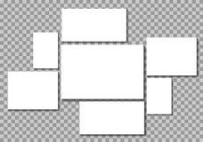 Hög av tomma fotoramar vektor illustrationer
