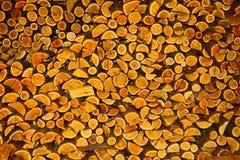 Hög av trä Arkivfoto