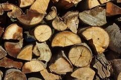 Hög av trä Arkivfoton