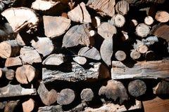 Hög av trä - bakgrund Royaltyfri Fotografi