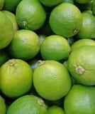 Hög av vibrerande gröna mogna limefrukter med stammen Arkivbilder