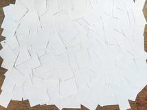 Hög av vita ark Royaltyfri Foto