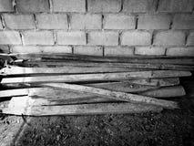 Hög av wood plankor Fotografering för Bildbyråer