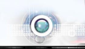 hög bakgrund - tech Royaltyfria Bilder