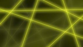 hög bakgrund - tech Abstrakta gula linjer korsningar framförande 3d Royaltyfri Foto