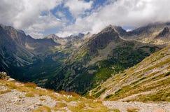 hög bergslovakia tatra Arkivbilder
