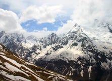 hög bergsnow under vinter Fotografering för Bildbyråer