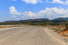 hög bergväg Fotografering för Bildbyråer