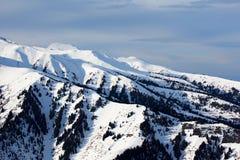 hög bergvinter Arkivfoto