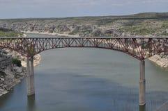 Hög bro för Pecos Arkivbild