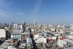 Hög byggnad i Thailand Arkivbild