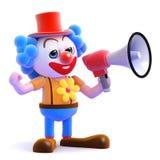 hög clown 3d Royaltyfri Foto