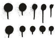 Hög detaljdroppande Dots Abstract Vector Backgrounds Set 16 för sprutmålningsfärg Vektor Illustrationer