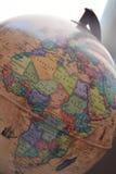 Hög detaljerad Afrika fysisk översikt med att märka royaltyfri bild