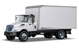 Hög-detaljerad kommersiell lastbil för vektor Fotografering för Bildbyråer