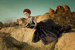 hög drottning för ökenmode Royaltyfria Foton