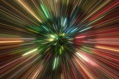 Hög-energi partikelexplosion stock illustrationer