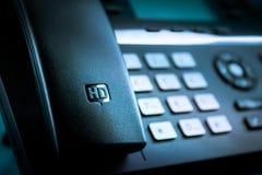 Hög för IP-skrivbord för definition HD telefon arkivbild