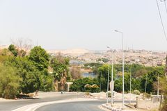 Hög fördämning - Egypten royaltyfria foton