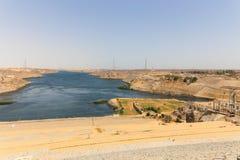 Hög fördämning - Egypten arkivfoton