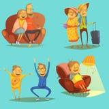Hög folksymbolsuppsättning stock illustrationer