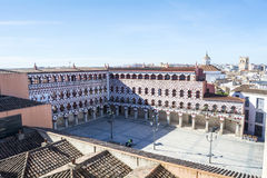 Hög fyrkant (plazaen Alta, Badajoz), Spanien Royaltyfri Bild