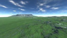 Hög grön kulle för landskap Royaltyfri Fotografi