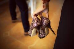 Hög-häl sko Fotografering för Bildbyråer